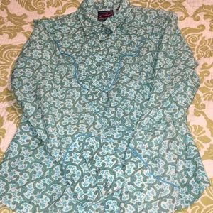 Lady's a small Roper pearl snap top